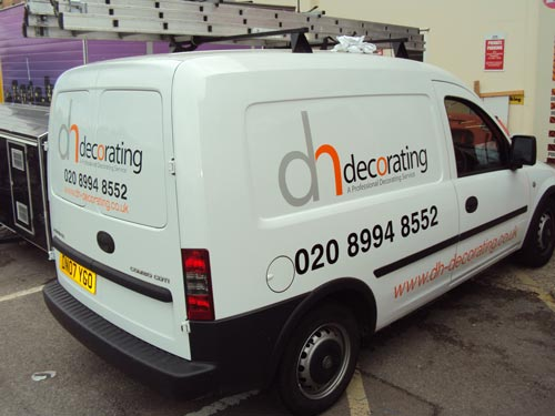 Combo van vehicle graphics